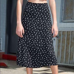 BRANDY MELVILLE maxi floral skirt